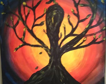 """Acrylic Painting, """"The other Side of Love"""", Original"""
