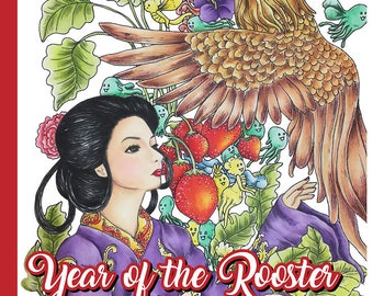 Year of the Rooster Adult Coloring Book by Mardel Rubio - Full PDF