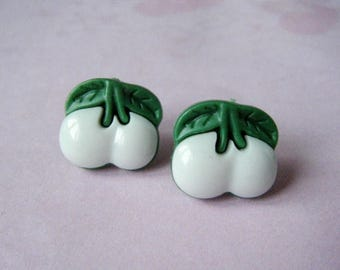 White cherry ♥ earrings ♥