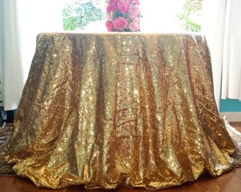 Gold Sequin Fabric for sale by yard