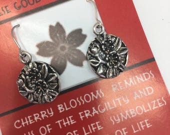 Cherry Blossom Japanese Good Luck Earrings by Symbology