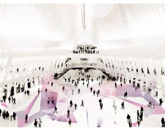 Oculus, World Trade Center, Photography, New York City, WTC, White, Silhouette, FREE SHIPPING!