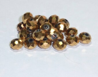 10 pearls 8mm Crystal antique gold.