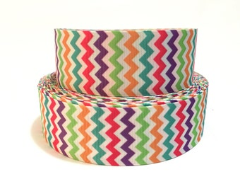Rainbow Chevron Ribbon, Chevron Ribbon, colorful chevron ribbon, Chevron Grosgrain