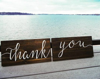 DUO Signs - Wedding, Thank You Signs - Calligraphy Script Style Font
