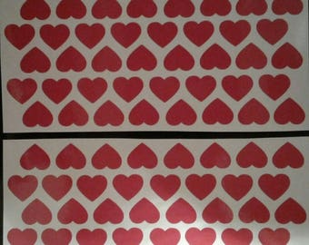 120 Red Heart Stickers 20mm Valentines Day Card Making Craft Envelope Seals Glass