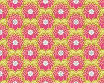 54003- Joel Dewberry Heirloom- Chrysanthemum in blush color  - 1/2 yard