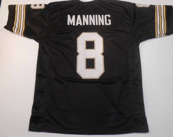 New Orleans Saints Archie Manning UNSIGNED CUSTOM Made Black Jersey