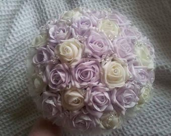 Foam rose bridal bouquet