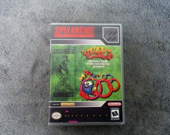 Izzy's Quest for the Olympic Rings Custom SNES - Super Nintendo Case Only (***No Game***)