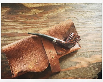 Leather Pipe Pouch - small single pipe