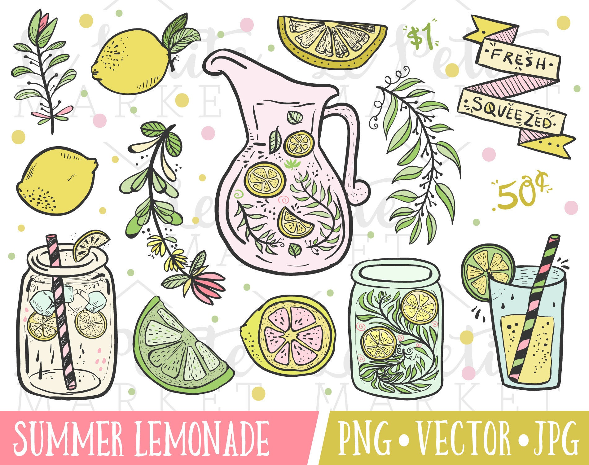 cute lemonade clipart images summer lemonade stand clipart rh etsy com lemonade clipart free lemonade clipart png