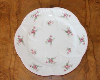 Shelley Fine Bone China Embossed Petite Roses Plate