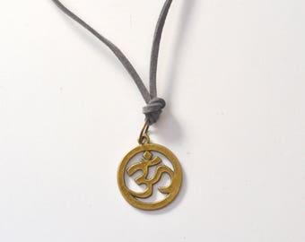 Mens Om Necklace, Om Necklace, Yoga Necklace, Om Yoga, Aumn Jewelry, Om Charm Necklace, Mens Om Jewelry, Unisex Om, Yoga Necklace, Christmas