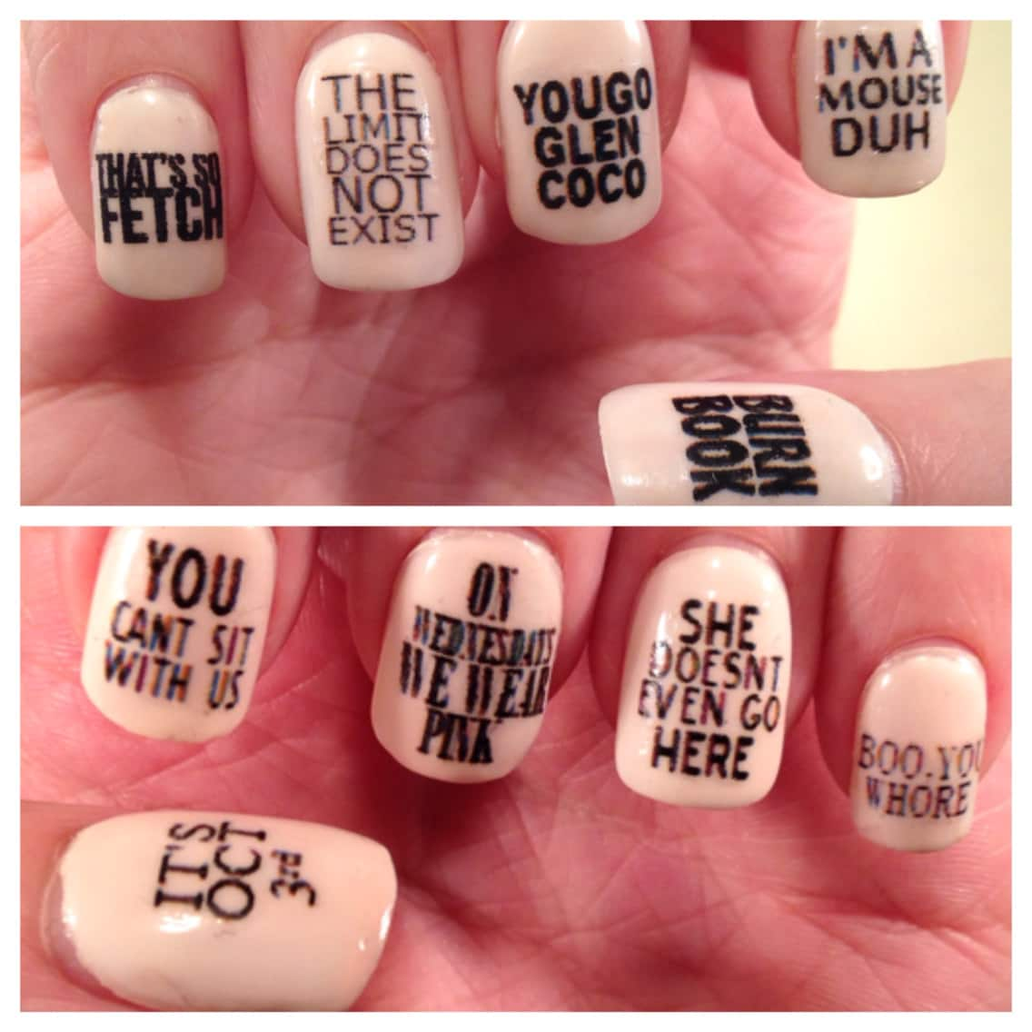 Girls Quotes Nail Decals