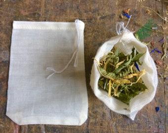 Eco Friendly Reusable Cotton Tea Bag