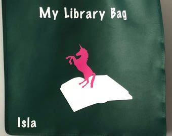 Personalized 'My Library Bag' Tote bag
