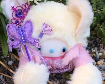 Kawaii/Fairy Kei Plush Mouse Doll-Crystal the Ballerina Sparkle Princess