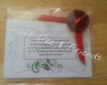 Santa's lost button (handmade)