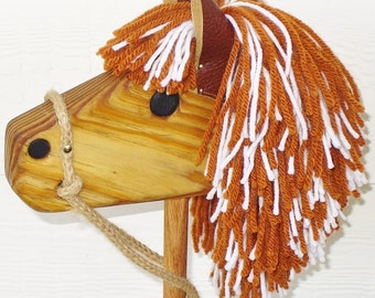 Wooden Stick Horse - Waldorf Toy - Hobby Horse - Imagination Toy For Pretend Play