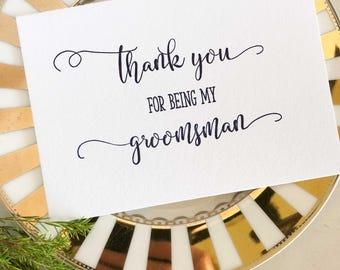 Groomsman Thank You Card, Best Man Card, Wedding Card Groomsman, Groomsmen Thanks, Wedding Thank You Cards, Groomsman Cards, Navy Wedding