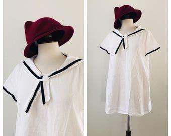 Vintage white sailor dress sz XS to M