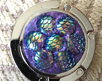 Shimmery purse hook