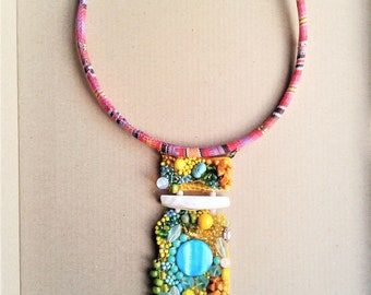 Gypsy Necklace** XL Pendant** Bohemian necklace***HANDMADE