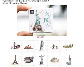 Small World Stickers Pack SM222831 45pcs