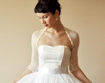 Bridal bolero, Wedding bolero, kid mohair, Bridal cover up, color natural white or cream cape, jacket, wedding, Cardigan, Bridal shrug