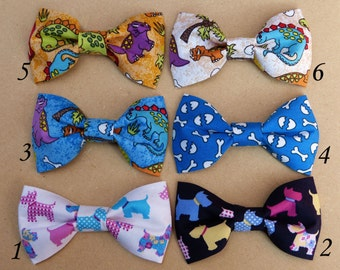 Kids Bow Ties, Boys bow ties, Baby bow ties - Dinosaurs and Dogs Collection