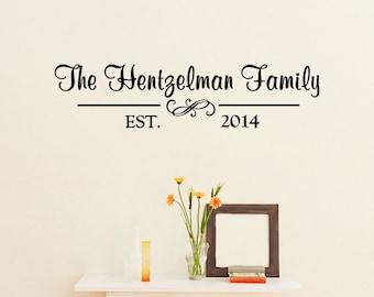 Custom Family Name Vinyl Lettering - Family Vinyl Wall Art Decal, Family Name Vinyl, Personalized Vinyl, Home Decor, Living Room, 36x8.7