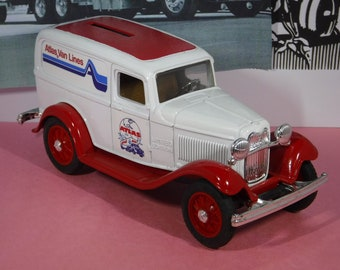 "1932 FORD SEDAN DELIVERY Coin Bank...""Atlas Van Lines""...From Ertl In The Early 1990's"