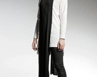 White Shirt, Modern Shirt, Long Shirt, Maxi Shirt, Mens White Top, Long Sleeved Top, Designer Clothing, Gift For Him, Boyfriend Gift