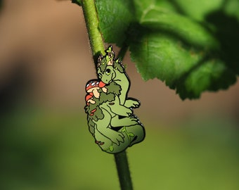 Plant Dragon Hard Enamel Pin