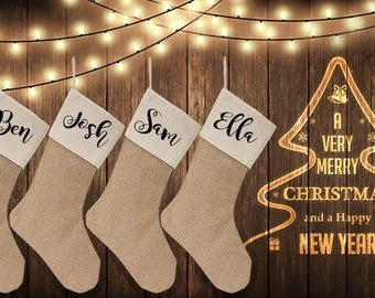 Personalized Stockings for a Family of 4!