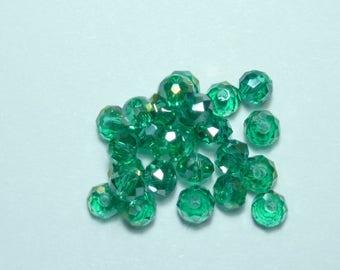 10 pearls 8mm iridescent emerald green swarovski crystal