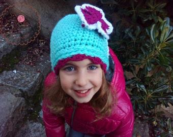 girls hats, crochet hat, crochet hats for women, baby hats,  crochet hat,  butterfly hat, gift for her, beanie hat, gift for women,