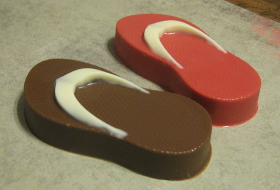 One dozen standard flip flop chocolate covered Nutter Butter peanut butter cookies party favors