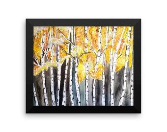 Aspen Trees Framed poster