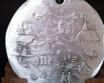 Ice Skater Christmas Ornament