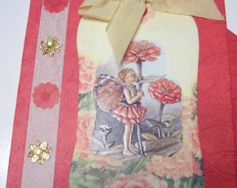 Red Crysanthemum Fairy card