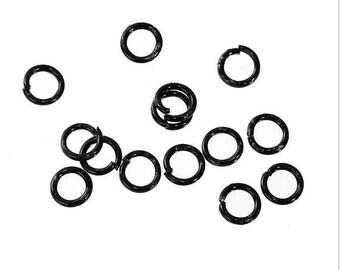 Black Jump Rings, 4mm Black Jump Rings, 4mm Black Split Rings, 4mm Findings, Jump Rings, Jump Ring Pack, Black Findings,
