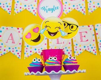 Emoji Party Centerpieces - Emoji Centerpieces - Party Pooper Table Decorations - Printable Centerpieces by Printable Studio