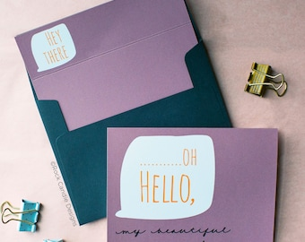 Oh Hello Will you be my Maid of Honor Greeting Card | Ways to Ask Your Bridesmaids | How To Ask Your Wedding Party | Card for Best Friend