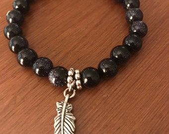 Grace And Glass Moonlight and Feathers Bracelet