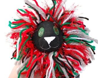 Sock Lion Archer Lion, Lion Plush, Handmade Lion, Sock Animal, Lion, Holiday Lion, Lion Toy