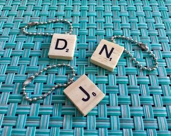 Handmade Wooden Scrabble Tile Key Chain!
