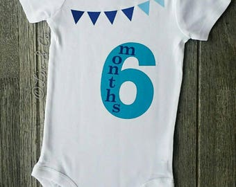 6 Months Old Baby Outfit, Half Year Birthday Boy, Baby Boy Clothes, Boy Baby Shower Gift Boy, Boy Baby Clothes, Milestone Outfit, Liv & Co.™