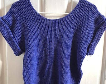 90s knitmakers sweater blouse